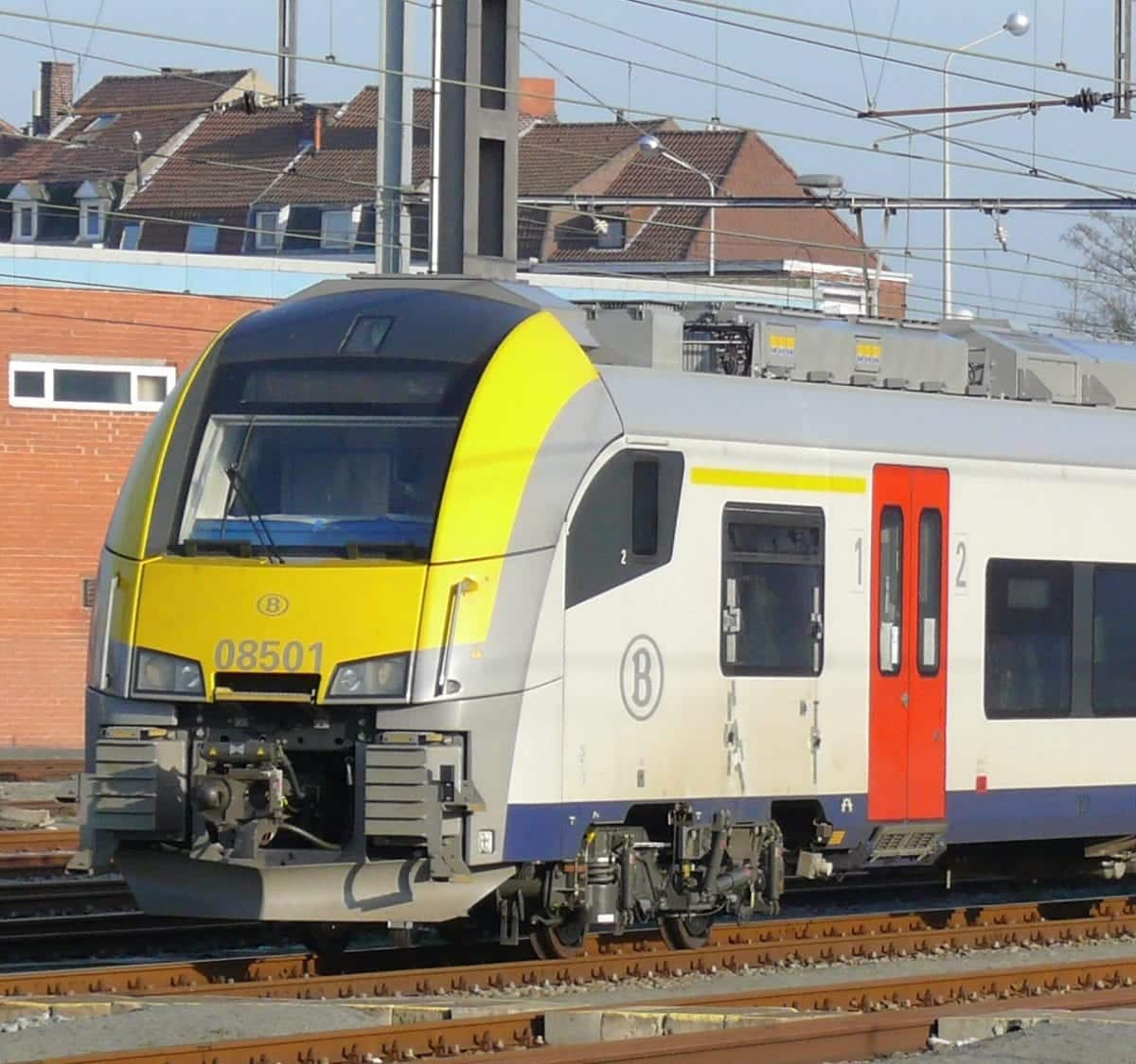 Desiro train of the NMBS/SNCB on the move