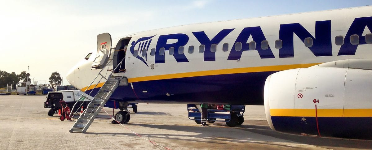 PLane Of Ryanair Ready For Departure