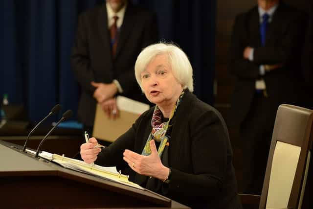 Ex-Fed Chairwoman Janet Yellen At FOMC 2016 Meeting