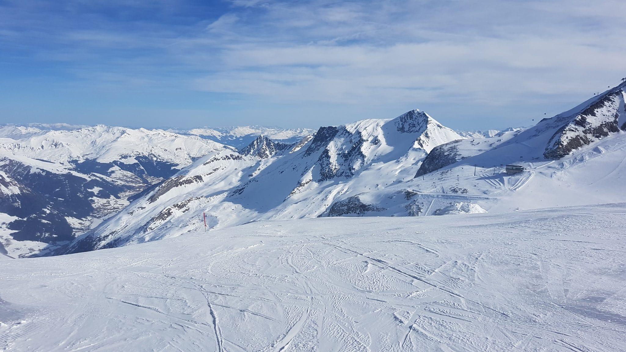 Glacier Slope On A Sunny Day