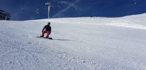 Me snowboarding in the Austrian Alps.