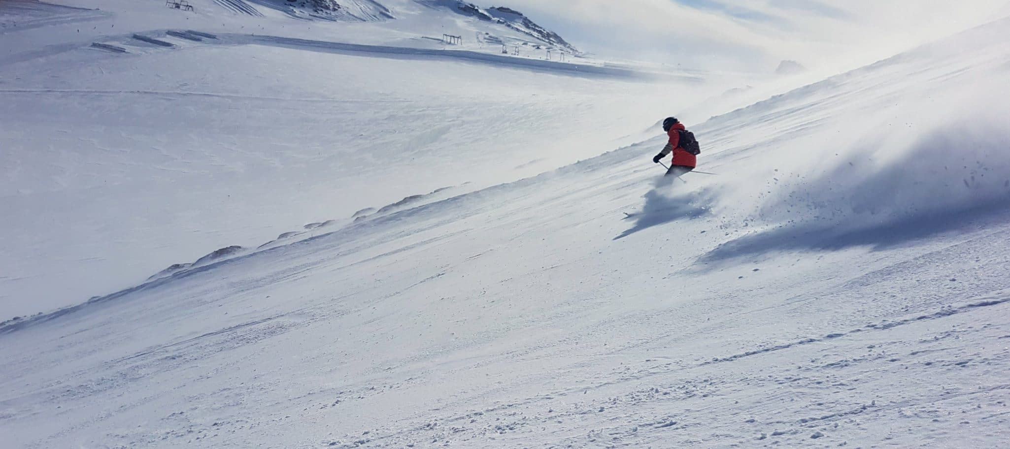 A Friend Of Skiing In The Austrian Alps.