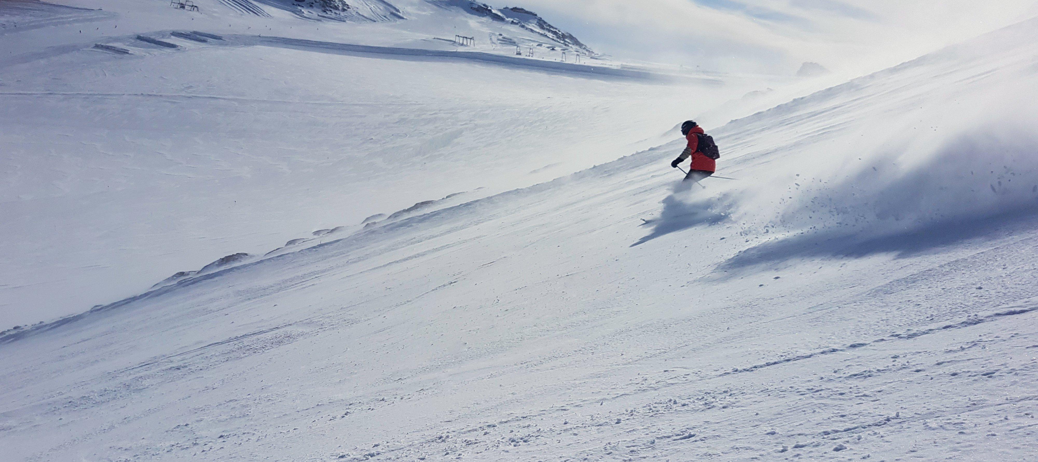 Snowboarding In The Austrian Alps