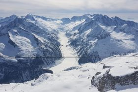 View From On Top And Over The Glacier