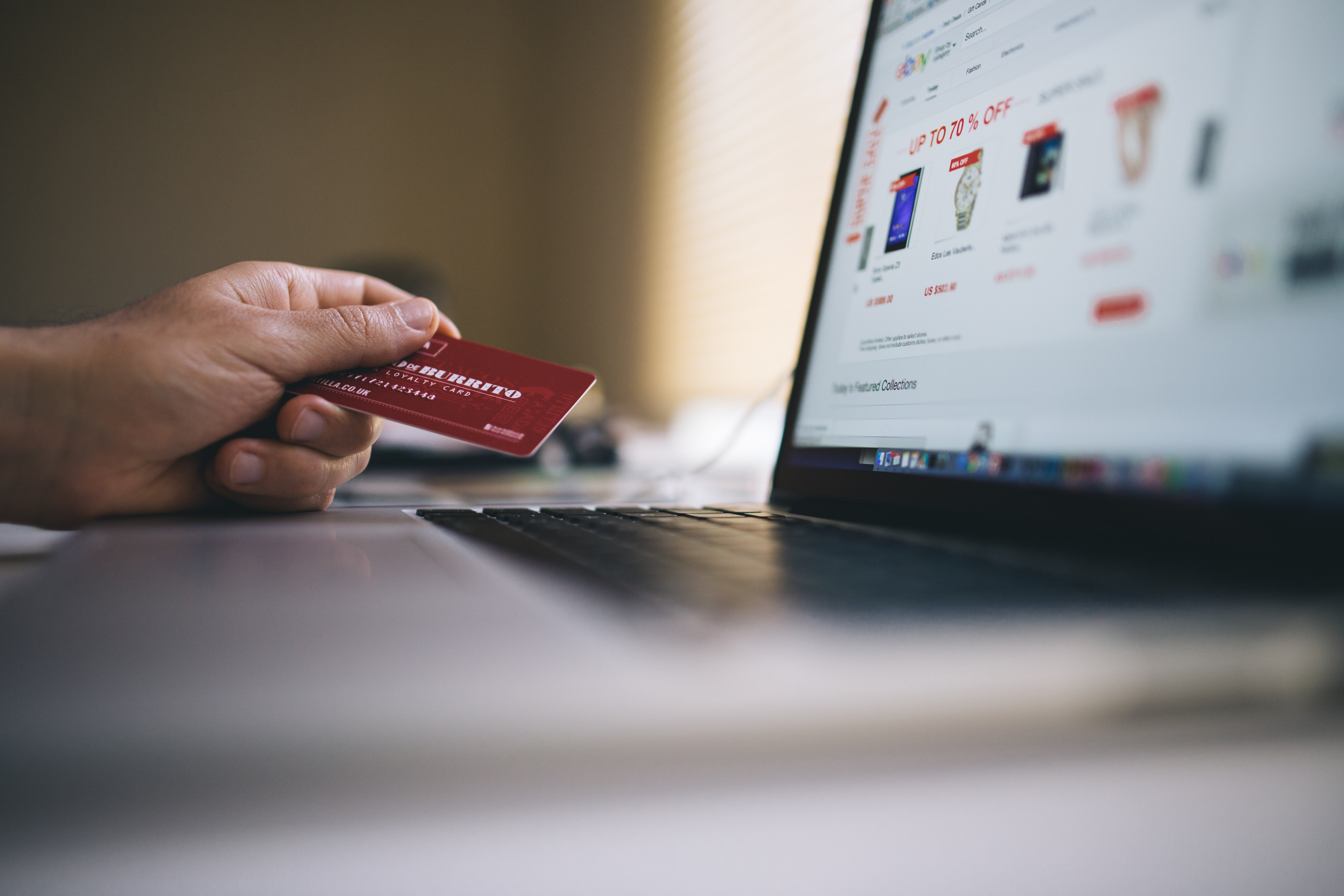 Credit card ready to purchase online