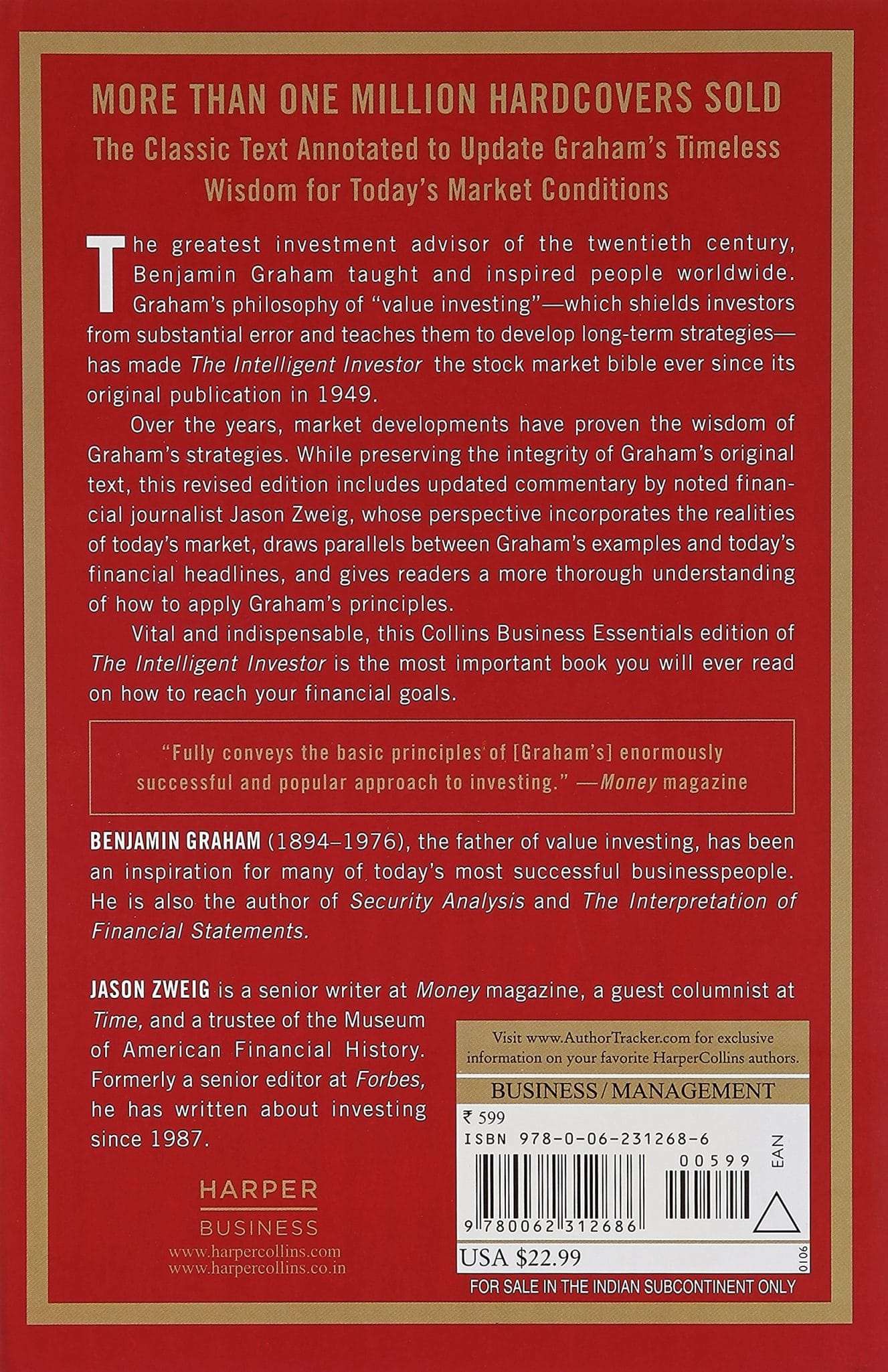 Back Cover Of The Intelligent Investor By Benjamin Graham