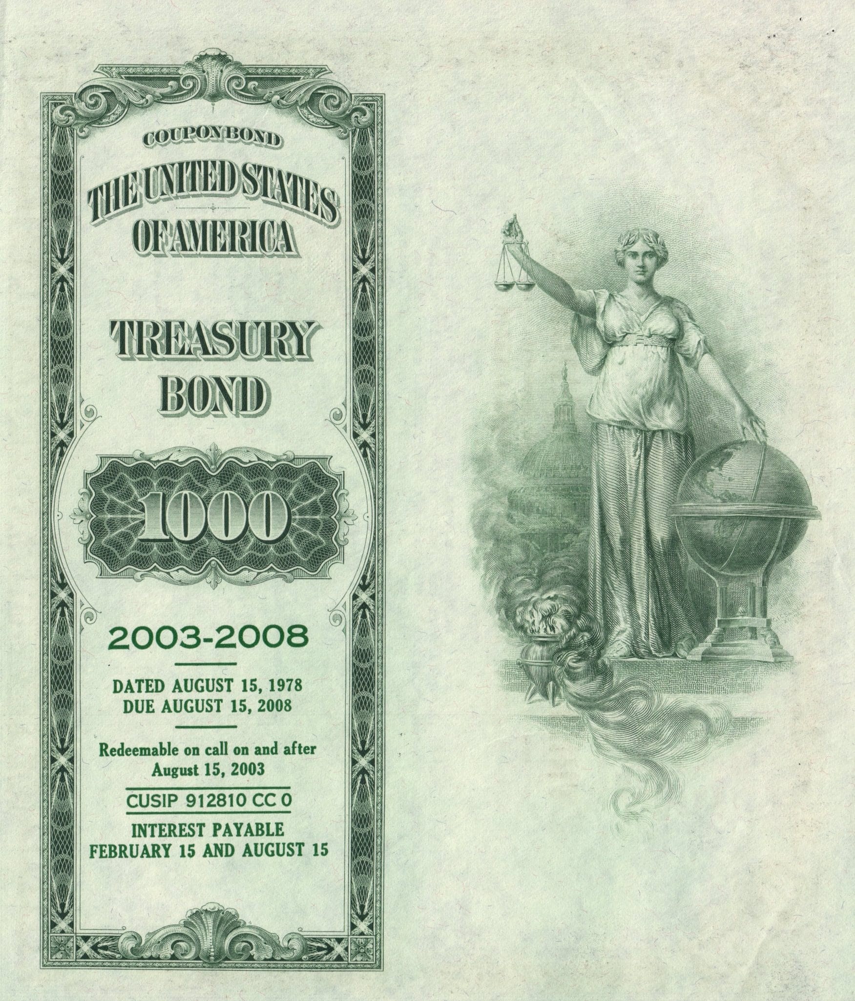 United States Treasury Bond