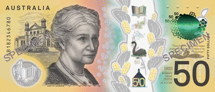 New Back Of The Australian 50 Bank Note