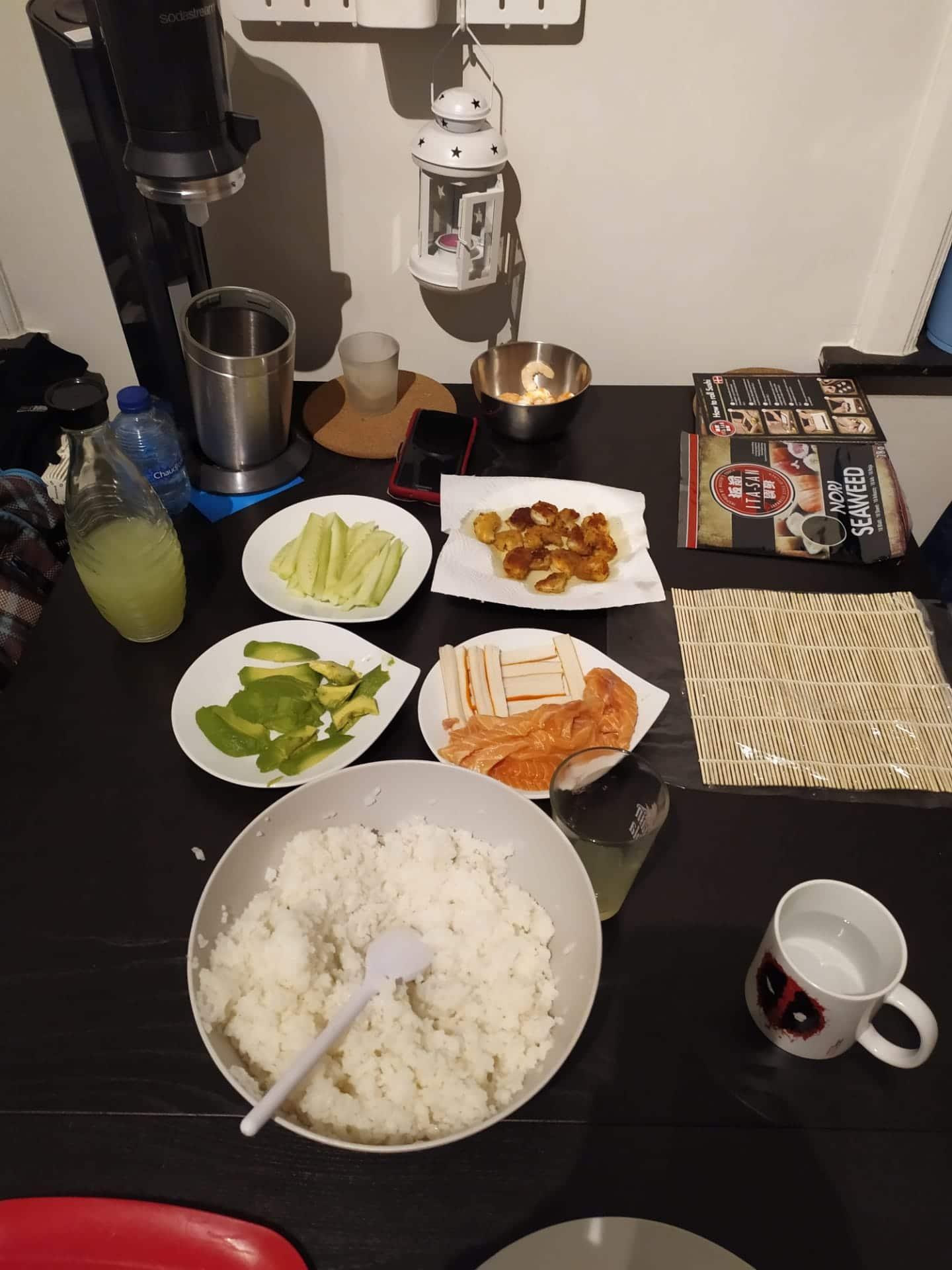 Preparing The Sushi Roll Fillings