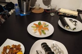 All The Sushi Prepared For A Sushi Night