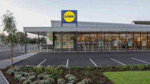 Store front of hard-discounter Lidl