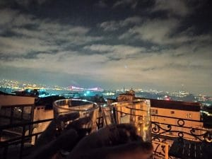 New Year's from a rooftop in Istanbul