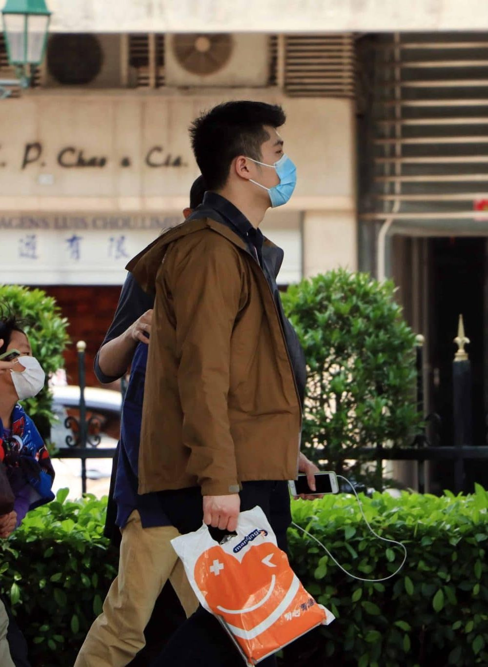 People Wearing Surgical Face Masks In The Street