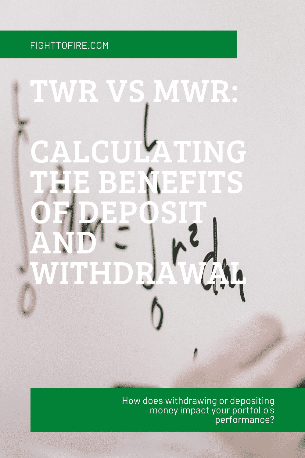 Time-Weighted Return Vs Money-Weighted Return