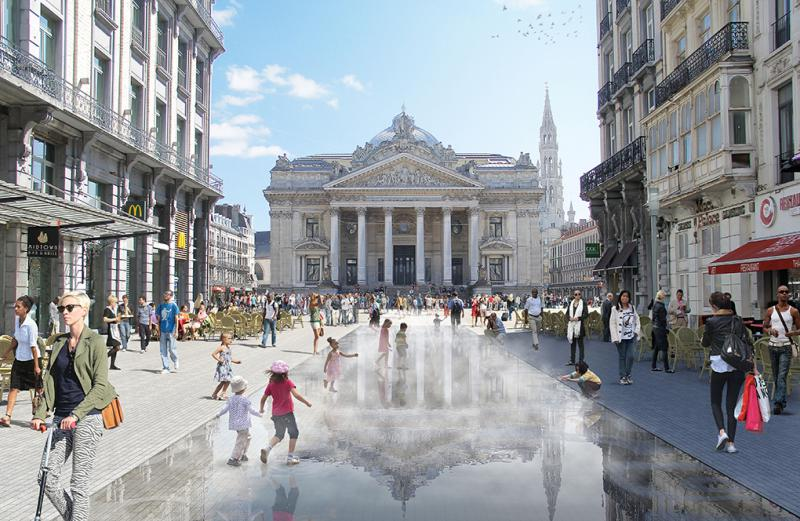 Brussel Bourse square will become place for pedestrians and cyclists
