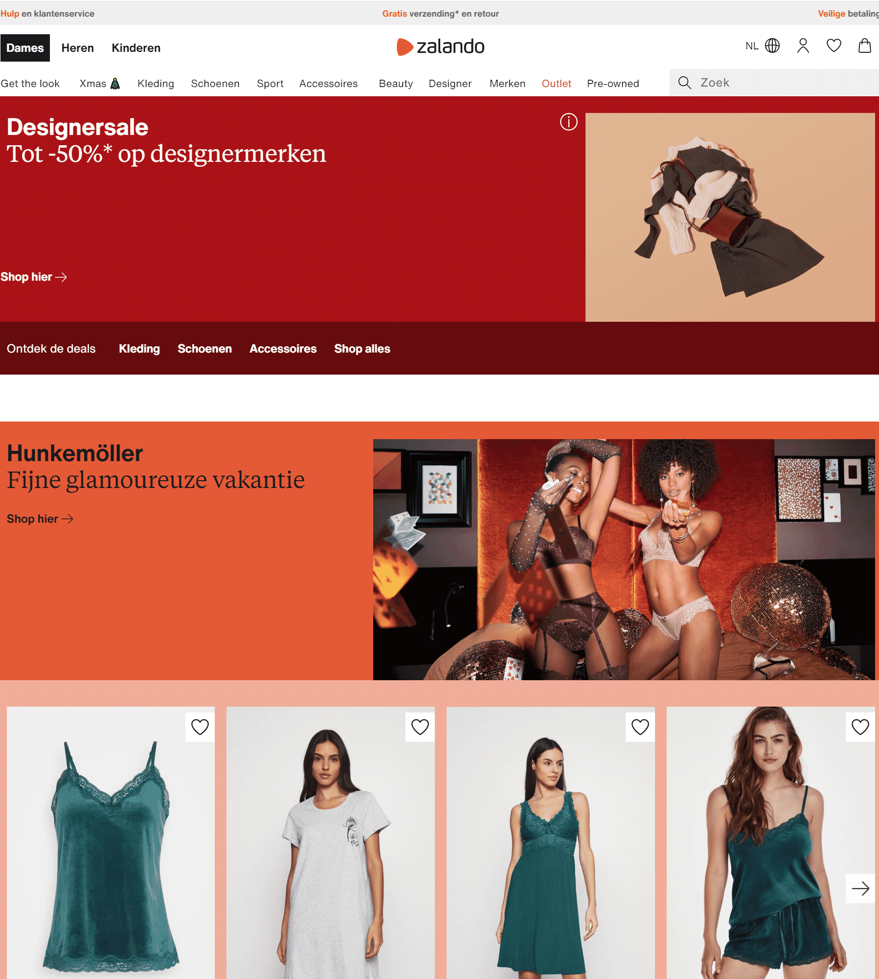 Zalando.be, the online clothing store for Belgium
