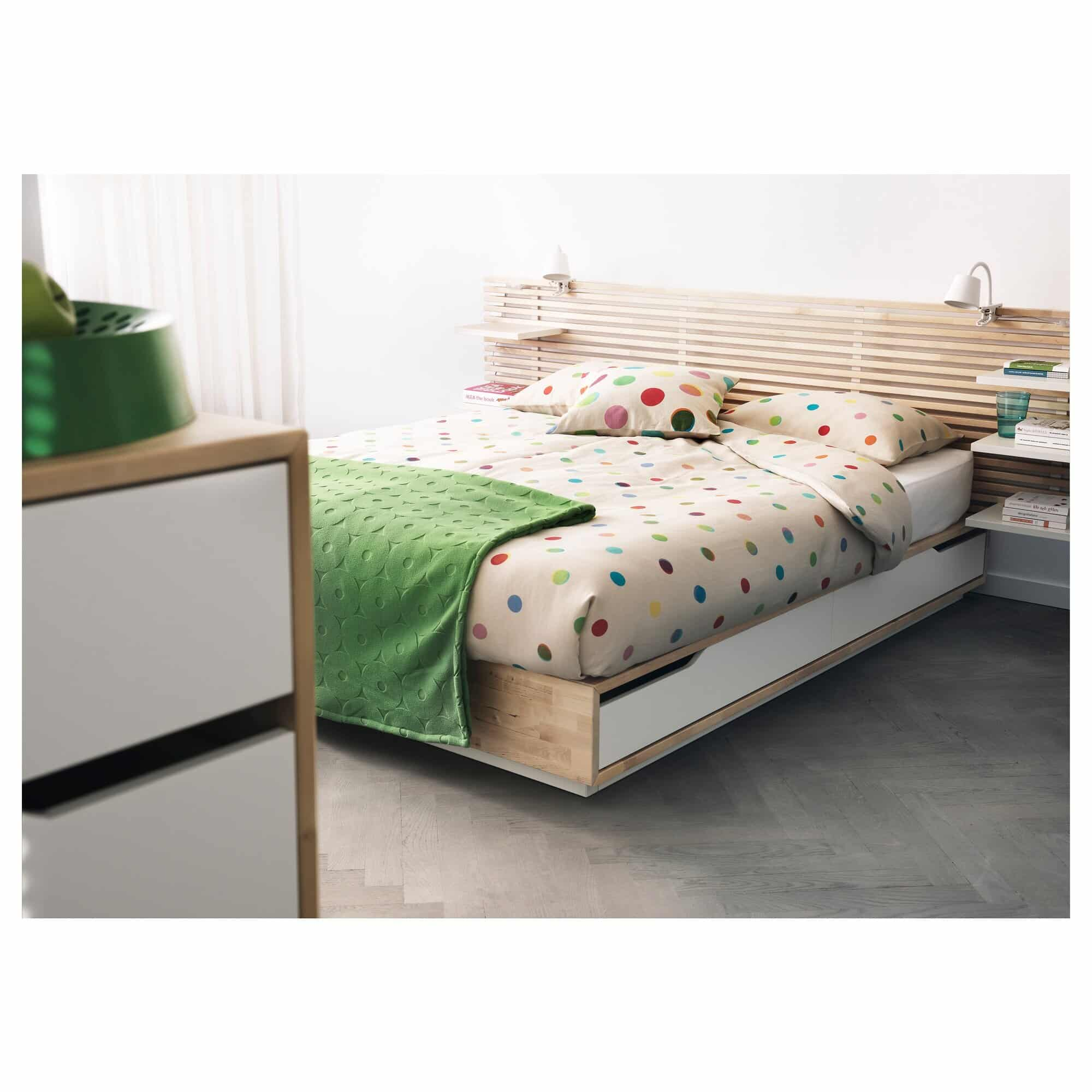 A more advanced wooden bedframe by IKEA